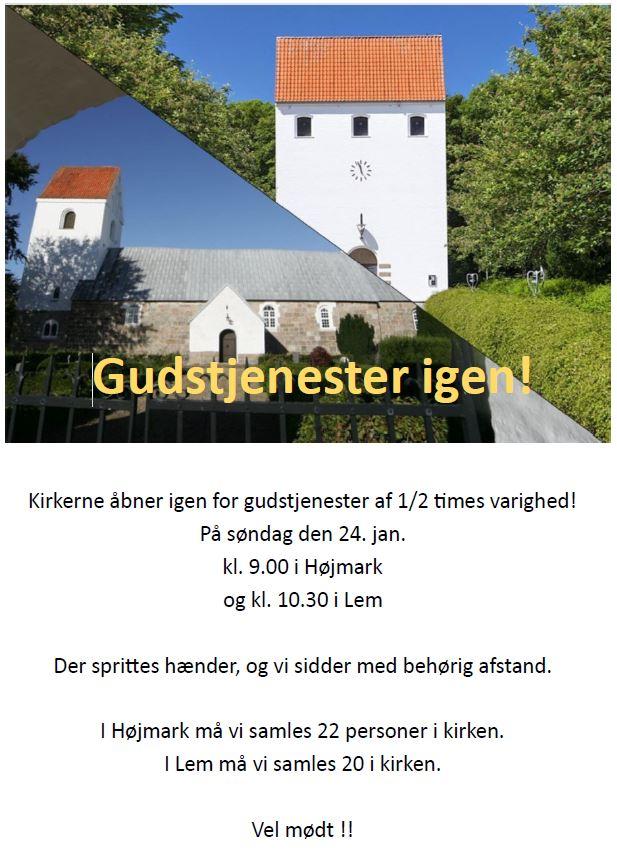 Kirkerne genåbner