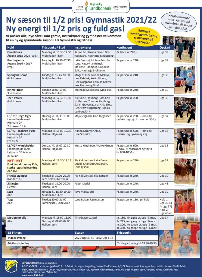 Gymnastik og Fitness Hold 2021 / 2022