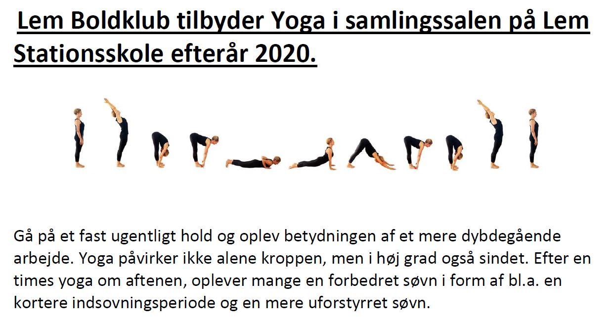 Yoga efterår 2020