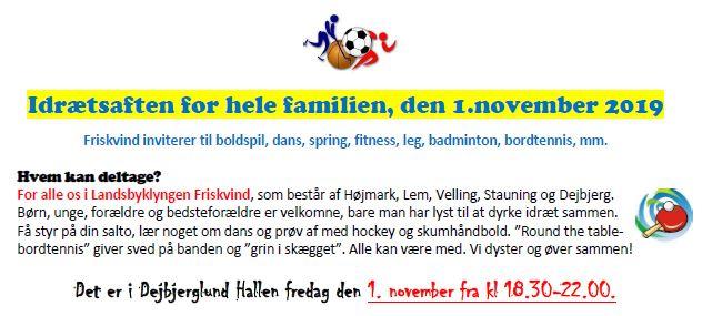 Familieaften Dejbjerglund Hallen