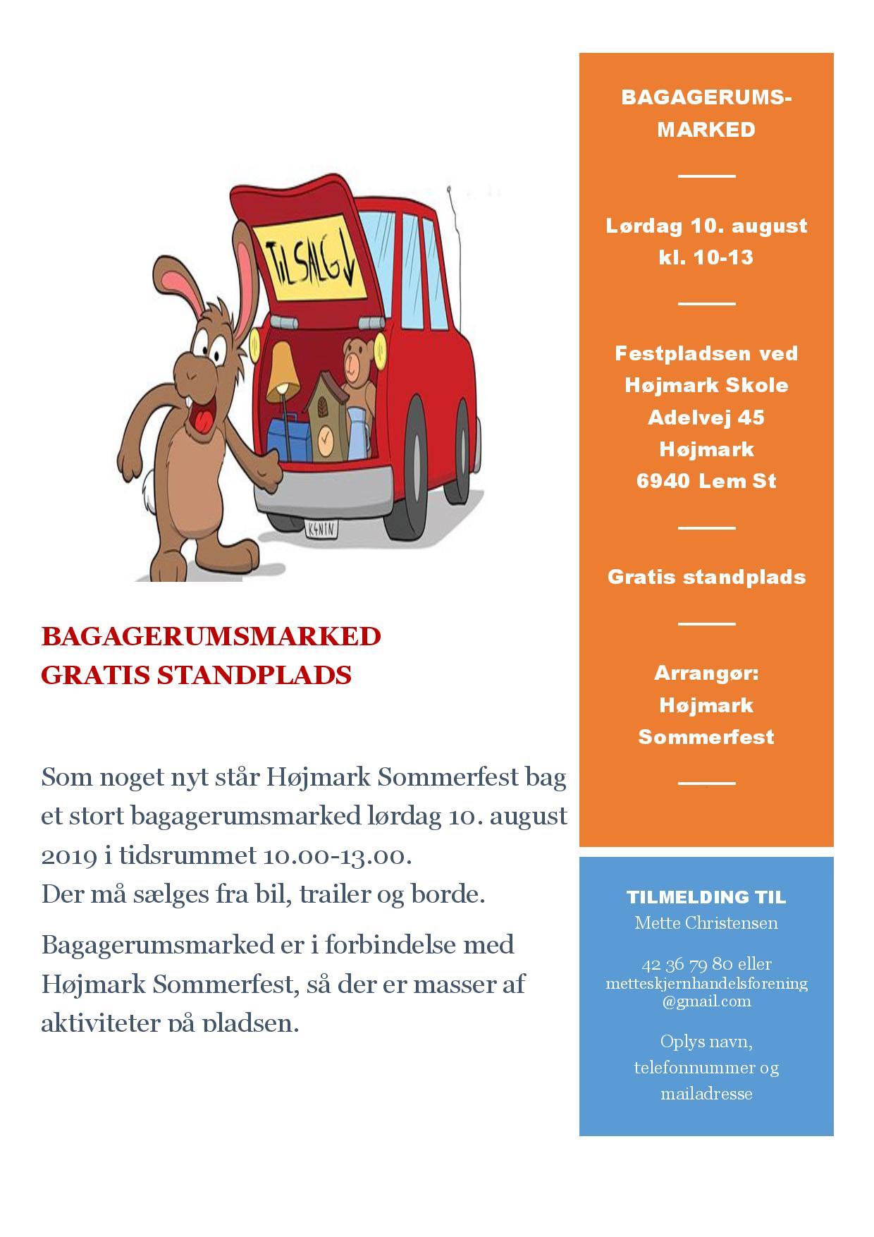 Bagagerumsmarked, Højmark Sommerfest