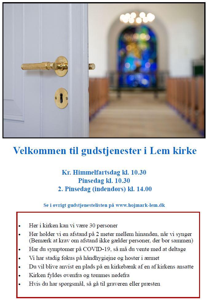 Lem Kirke åbner dørene igen