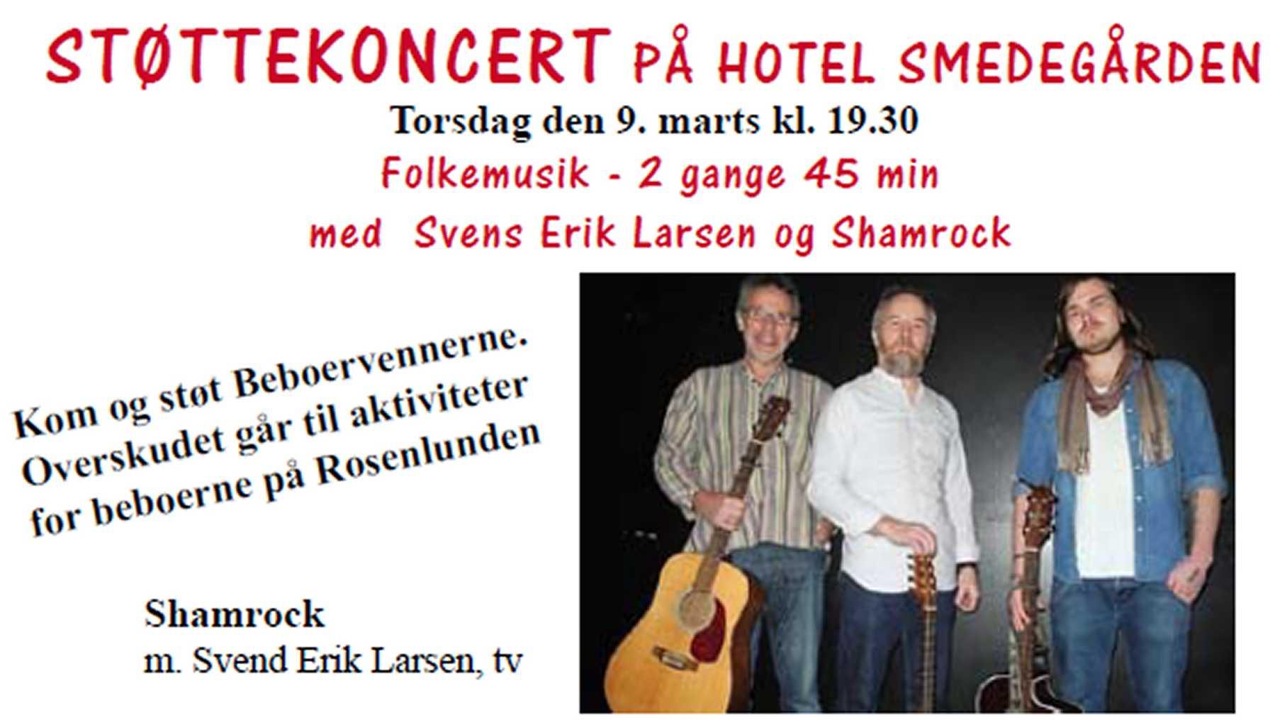 Støttekoncert med Shamrock