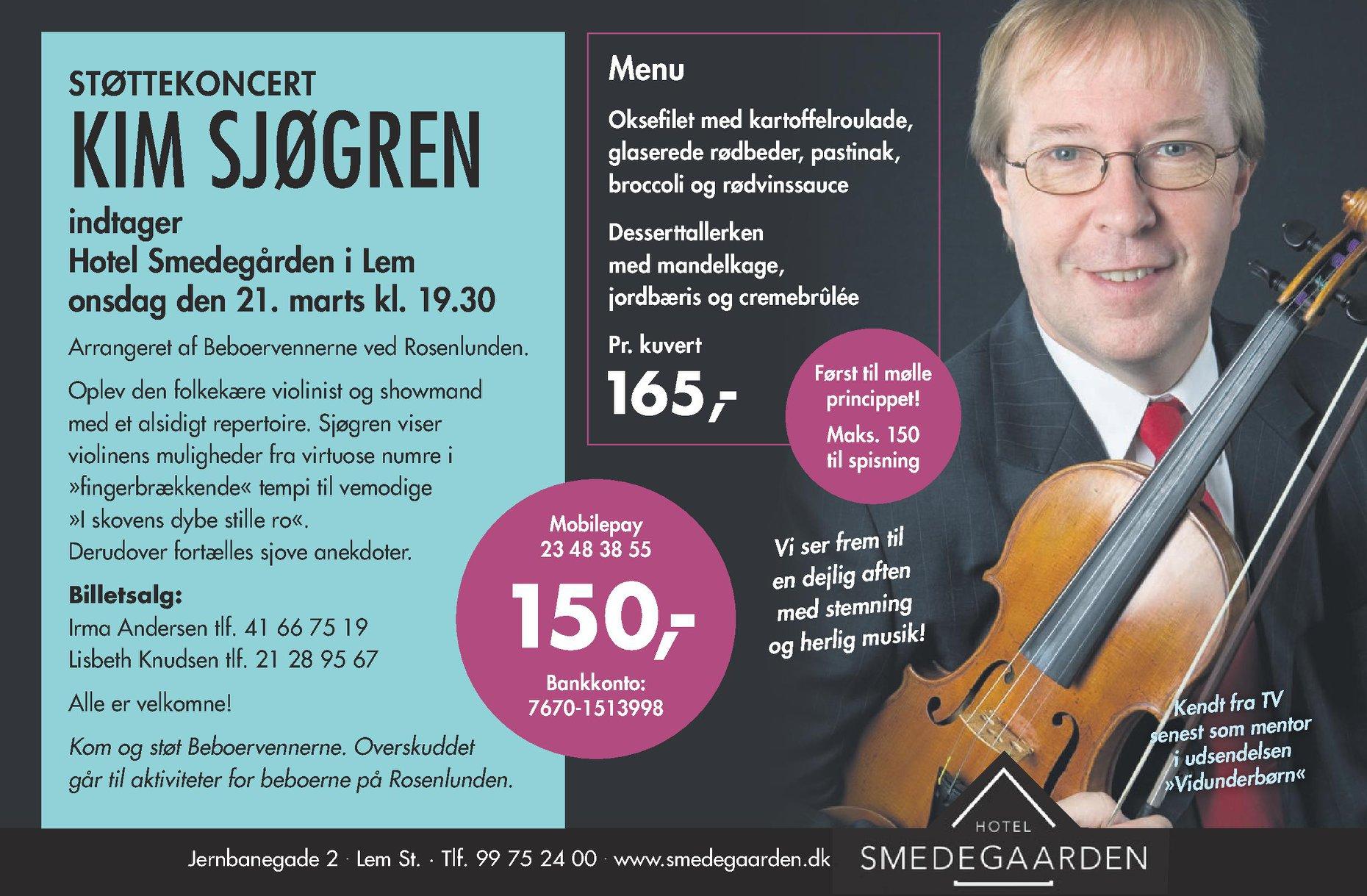 Kim Sjøgren koncert