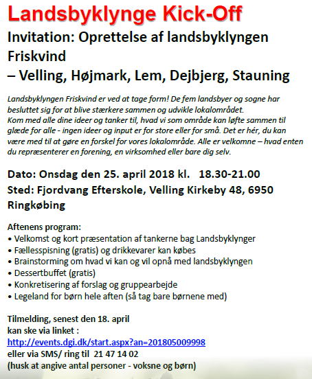 Landsbyklynge Kick Off April 2018