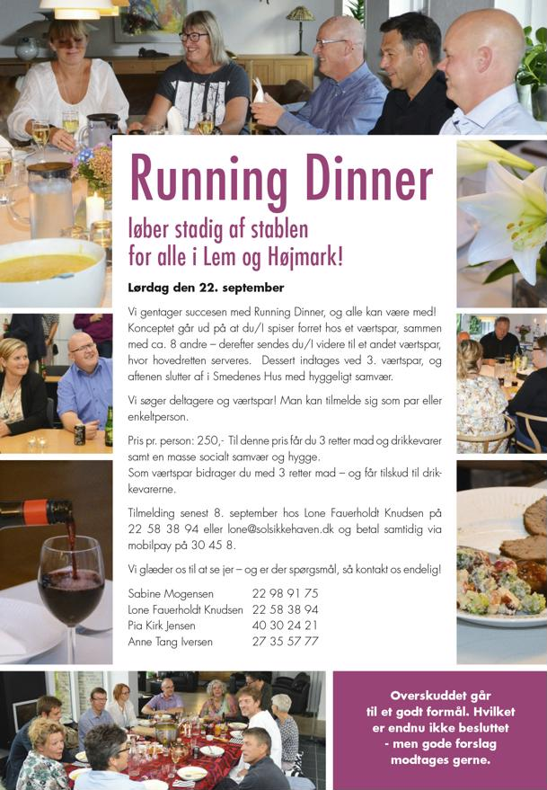 Tag med til en fantastisk aften - Running Dinner