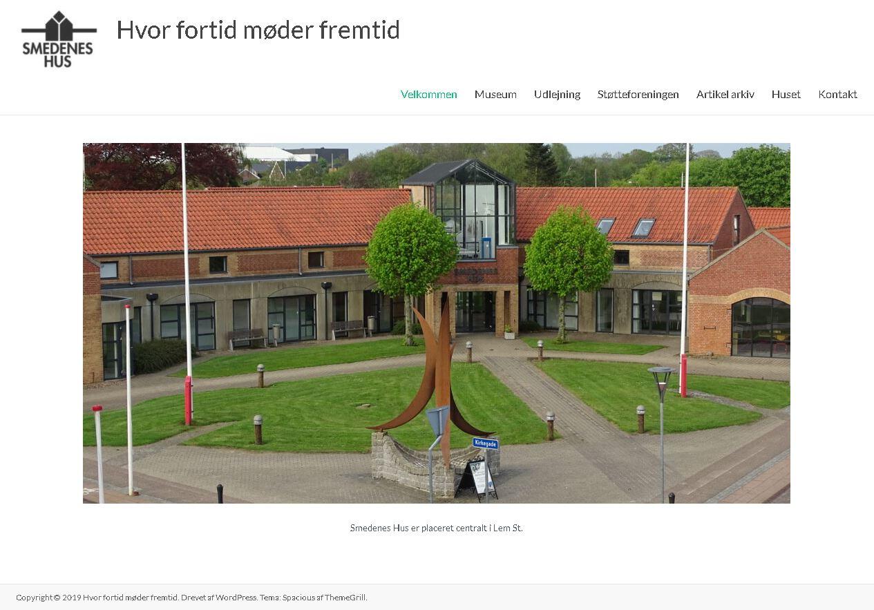 Smedenes Hus' nye hjemmeside