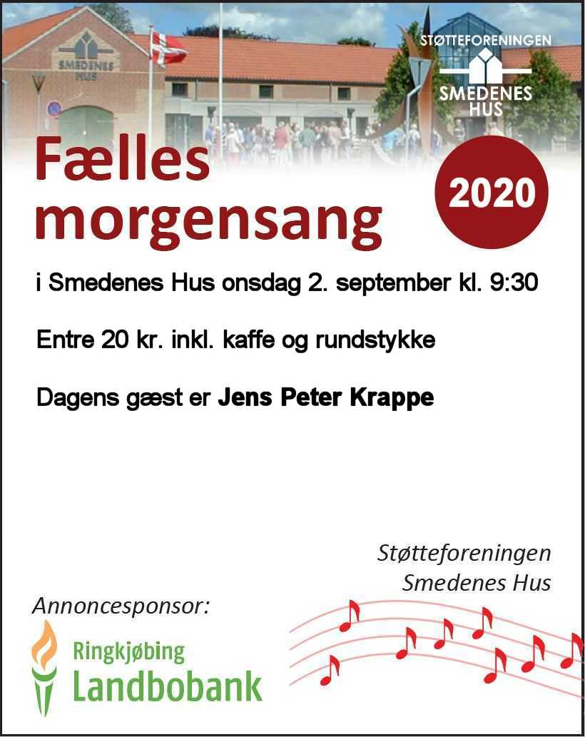 Morgensang den 2. september kl. 9:30