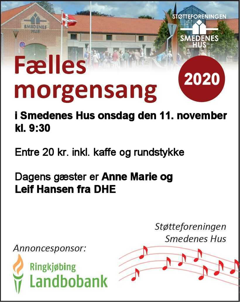 Morgensamling den 11. november kl. 9:30