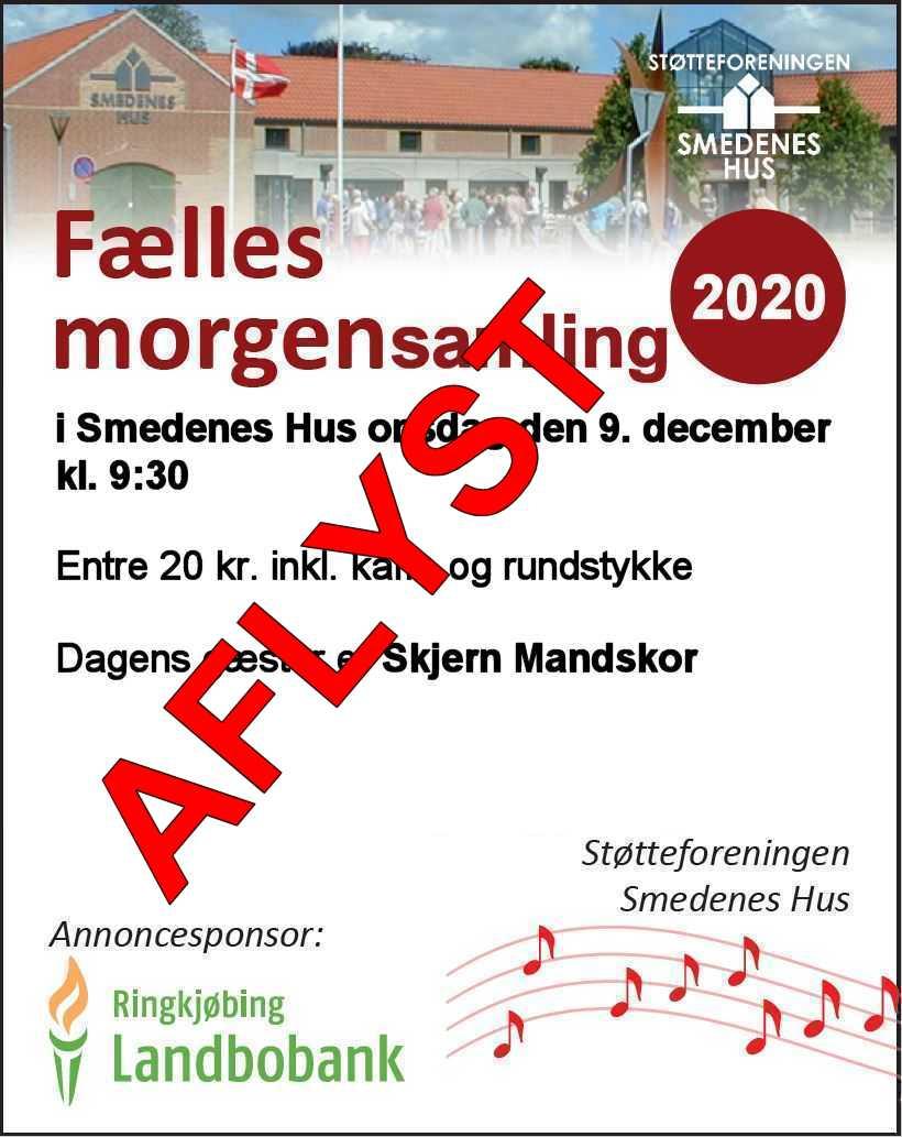AFLYST Morgensamling 9. december 2020